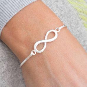Sterling Silver Personalised Infinity Bracelet