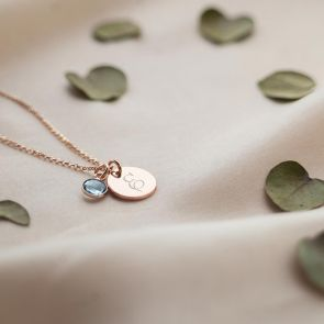 Initial and Birthstone Personalised Necklace