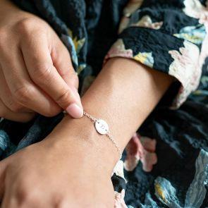 Initial Disc Personalised Bracelet