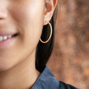 Isla Sterling Silver Personalised Hoop Earrings