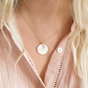 Khloe Disc Personalised Name Necklace