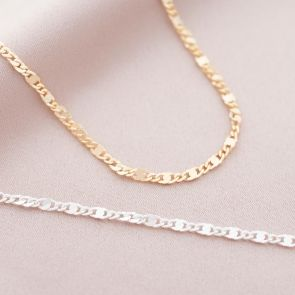 Kyra Sterling Silver Delicate Link Personalised Necklace