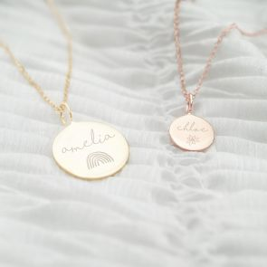 Personalised Large Sterling Silver Hope Name Necklace