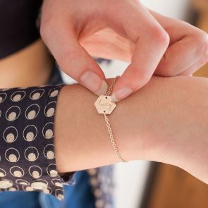 Lealia Hexagon Personalised Friendship Bracelet