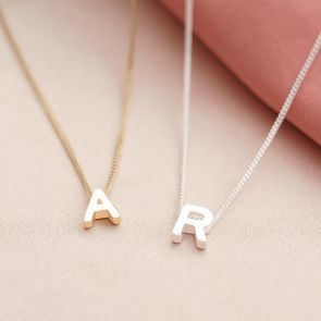 Letter Charm Personalised Necklace