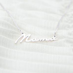 Mama Script Pendant Personalised Necklace