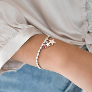 Maya Star Initial Personalised Bracelet