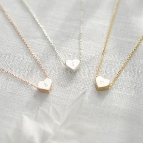 Mini Heart Initial Personalised Necklace