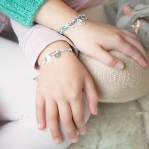 Mini Liberty Create Your Own Mother of Pearl Personalised Friendship Bracelet