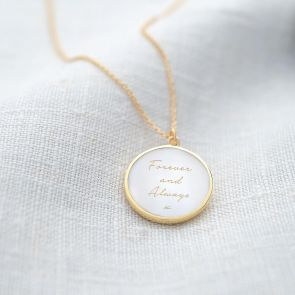 Mother of Pearl Personalised Message Necklace