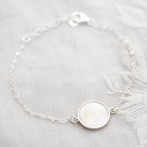 Mother of Pearl Personalised Name Bracelet