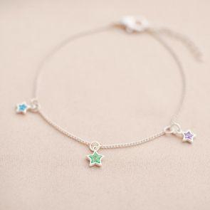 Multi Birthstone Star Personalised Bracelet