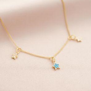 Multi Birthstone Star Personalised Necklace