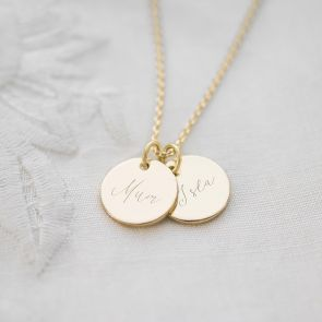Mum And Me Double Disc Personalised Name Necklace