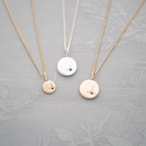 North Star Initial Birthstone Personalised Necklace
