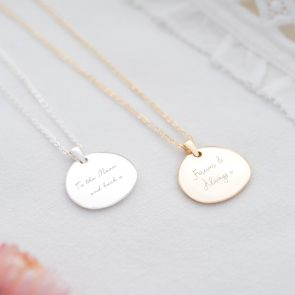 Organic Disc Personalised Message Necklace