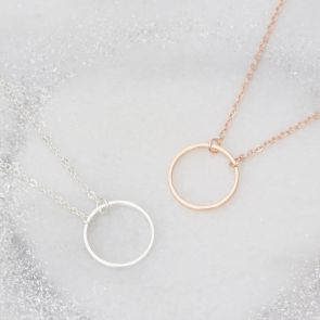 Sterling Silver Circle Of Life Personalised Necklace