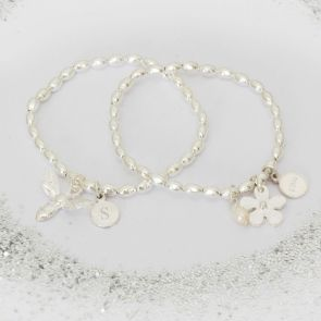 Personalised Flower Girl Bead Bracelet