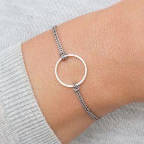 Personalised Circle Of Life Silk Wish Bracelet