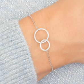 Sterling Silver Eternity Circle Of Life Personalised Bracelet