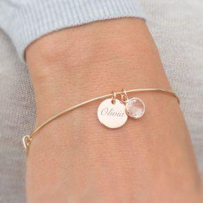 Skylyn Personalised Sterling Silver Bracelet