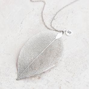 Caitlan Leaf Pendant Personalised Necklace