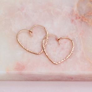 Fleur Personalised Heart Earrings