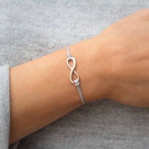 Luana Sterling Silver Personalised Eternity Bracelet
