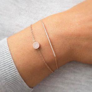 Fia Sterling Silver Initial Personalised Frienship Bracelet