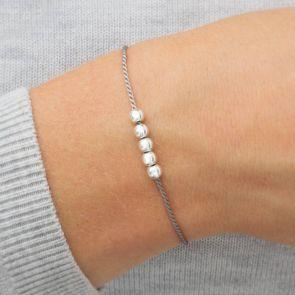 Sterling Silver Wish Charm Personalised Bracelet