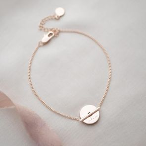 Personalised Martha Disc and Bar Bracelet