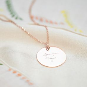 Sterling Silver Handwriting Personalised Necklace