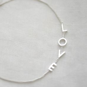 Personalised Sterling Silver Word Bracelet