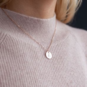Grace Sterling Silver Disc Personalised Name Necklace