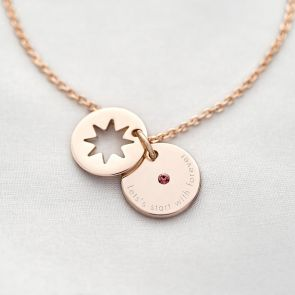Secret Star Birthstone Personalised Bracelet