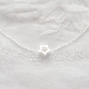 Sterling Silver Cut Out Star Personalised Bracelet