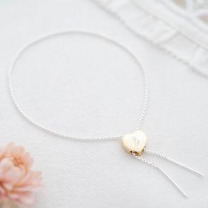 Sterling Silver Heart Slider Personalised Bracelet