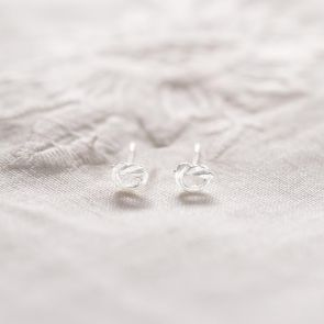 Sterling Silver Infinity Knot Personalised Earrings