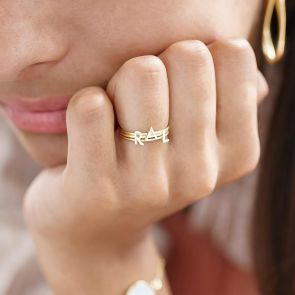 Sterling Silver Initial Personalised Stacking Ring