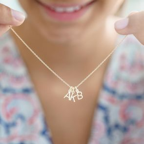 Sterling Silver Initial Letters Personalised Necklace