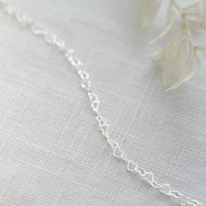Sterling Silver Linking Heart Choker