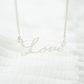 Sterling Silver Love Personalised Necklace
