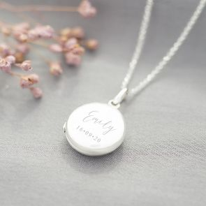 Sterling Silver Name and Date Personalised Locket