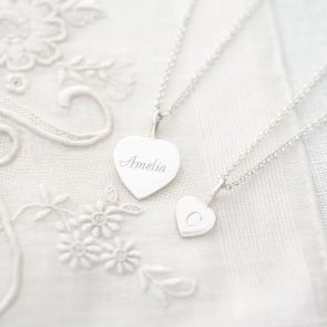 Sterling Silver Sia Personalised Heart Necklace