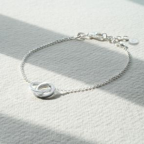 Sterling Silver Infinity Rings Personalised Bracelet