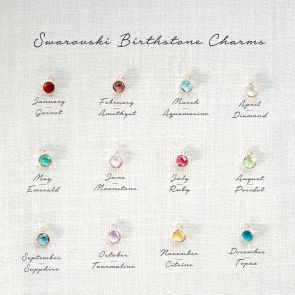 Add a Swarovksi Birthstone Personalised Charm