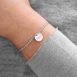 Tamsin Personalised Initial Disc Statement Bracelet