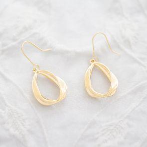 Teardrop Gold Statement Personalised Earrings