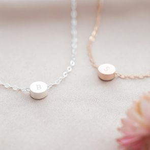 Thea Initial Disc Personalised Friendship Bracelet