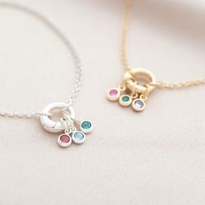 Tia Family Birthstone Personalised Necklace
